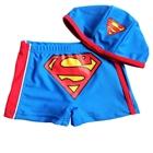 กางเกงว่ายน้ำ-Superman-สีฟ้าพร้อมหมวก(6-ตัว/pack)