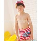 กางเกงว่ายน้ำ-Micky-สีแดง-พร้อมหมวก(3-ตัว/pack)