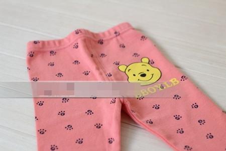 กางเกงเลกกิ้งขายาวหมีพูลล์ สีชมพูส้ม (6 ตัว /pack)