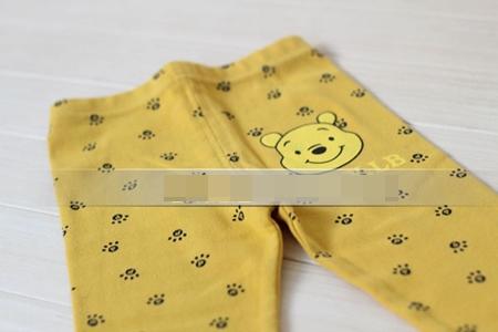 กางเกงเลกกิ้งขายาวหมีพูลล์ สีเหลือง (6 ตัว /pack)