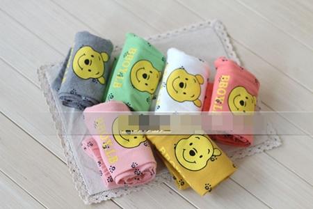กางเกงเลกกิ้งขายาวหมีพูลล์ สีชมพู (6 ตัว /pack)
