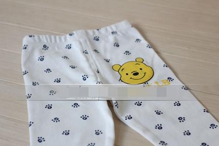 กางเกงเลกกิ้งขายาวหมีพูลล์ สีขาว (6 ตัว /pack)
