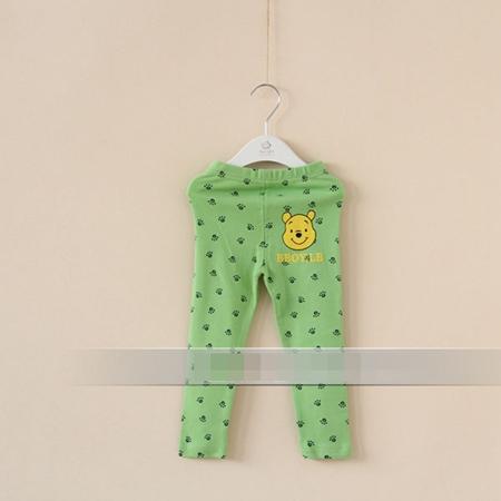 กางเกงเลกกิ้งขายาวหมีพูลล์ สีเขียว (6 ตัว /pack)