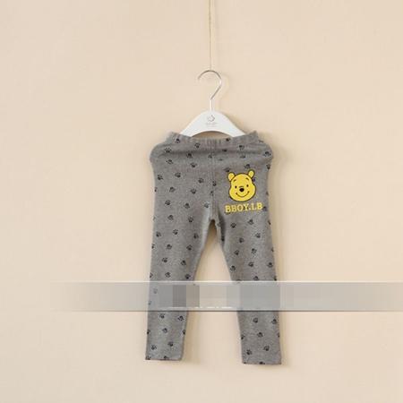 กางเกงเลกกิ้งขายาวหมีพูลล์ สีเทา (6 ตัว /pack)