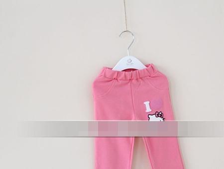กางเกงเลกกิ้งขายาว Kitty สีชมพู (5 ตัว /pack)