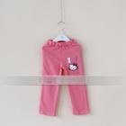 กางเกงเลกกิ้งขายาว-Kitty-สีชมพู-(5-ตัว-/pack)