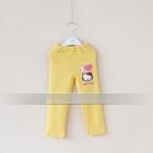 กางเกงเลกกิ้งขายาว-Kitty-สีเหลือง-(5-ตัว-/pack)