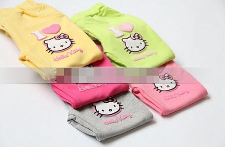 กางเกงเลกกิ้งขายาว Kitty สีเทา (5 ตัว /pack)