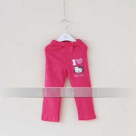 กางเกงเลกกิ้งขายาว Kitty สีบานเย็น (5 ตัว /pack)