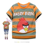 เสื้อยืดแขนสั้น-Angry-Bird-สีส้มเทา-(6size/pack)
