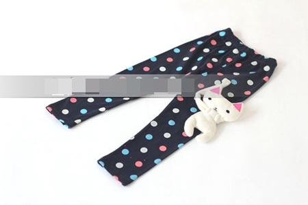 กางเกงเลกกิ้งขายาวแมวเหมียว สีดำ (5 ตัว /pack)