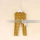 กางเกงเลกกิ้งขายาวแมวเหมียว-สีเหลือง-(5-ตัว-/pack)