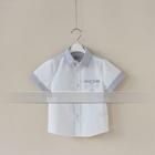 เสื้อเชิ๊ตเด็กแขนสั้น-เด็กอังกฤษ-สีขาว(5-ตัว/pack)