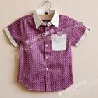 เสื้อเชิ๊ตเด็กแขนสั้น-Bape-Kids-สีม่วง(5-ตัว/pack)