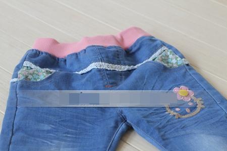 กางเกงยีนส์ขายาว Hello Kitty สีน้ำเงิน(5 ตัว/pack)