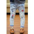 กางเกงยีนส์ขายาวลายปะแนวเซอร์-(5ตัว/pack)