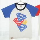 เสื้อแขนสั้น-Triple-Superman-สีน้ำเงิน-(5ตัว/pack)