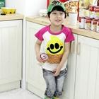 เสื้อยืด-JNMING-แขนสีชมพู-(5size/pack)