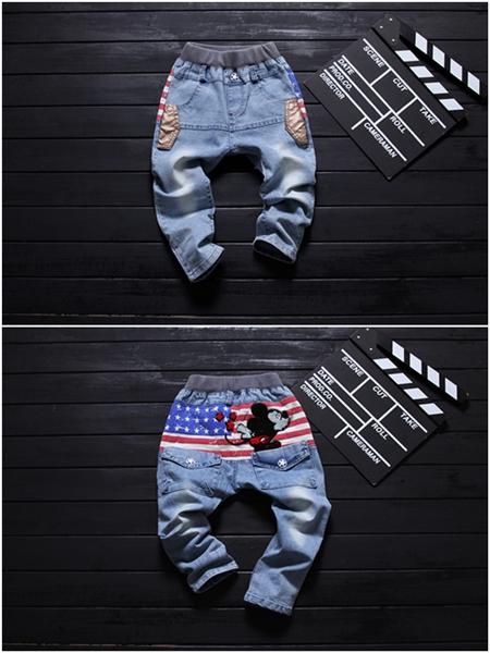 กางเกงยีนส์ขายาว Micky USA (5ตัว/pack)