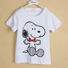 เสื้อแขนสั้น-Snoopy-สีขาว-(5ตัว/pack)