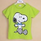 เสื้อแขนสั้น-Snoopy-สีเขียว-(5ตัว/pack)