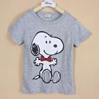 เสื้อแขนสั้น-Snoopy-สีเทา-(5ตัว/pack)