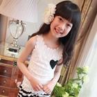 เสื้อแขนกุดลูกไม้หัวใจ-สีขาว-(5ตัว/pack)