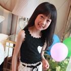 เสื้อแขนกุดลูกไม้หัวใจ-สีดำ-(5ตัว/pack)