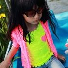 เสื้อแขนกุดลูกไม้หัวใจ-สีเหลือง-(5ตัว/pack)