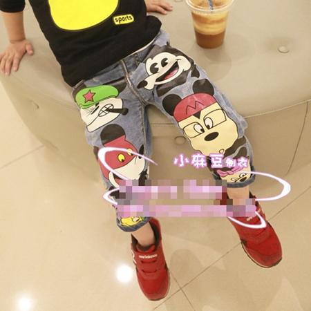 กางเกงยีนส์ขายาว Cosplay Mickey (5ตัว/pack)