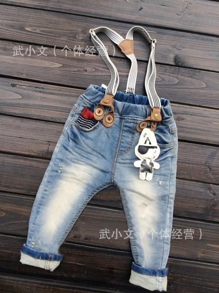 กางเกงยีนส์ขายาวกระต่ายตาเดียว (5ตัว/pack)