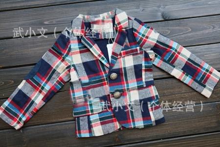 เสื้อแจ๊คเก็ตลายสก๊อตกรมท่าแดง (4 ตัว/pack)