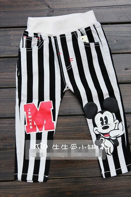 กางเกงขายาวมิกกี้ลายทาง (5 ตัว/pack)