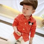 เสื้อเชิ้ตแขนยาวลายจุดมิกกี้-สีส้ม-(5-ตัว/pack)