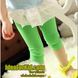 กางเกงเลกกิ้ง สีเขียว (5size/pack)