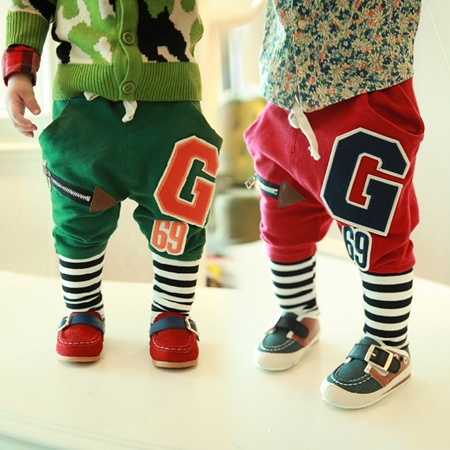 กางเกงขายาว G 69 สีเขียว (4 ตัว/pack)