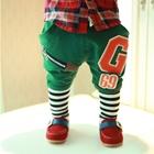 กางเกงขายาว-G-69-สีเขียว-(4-ตัว/pack)