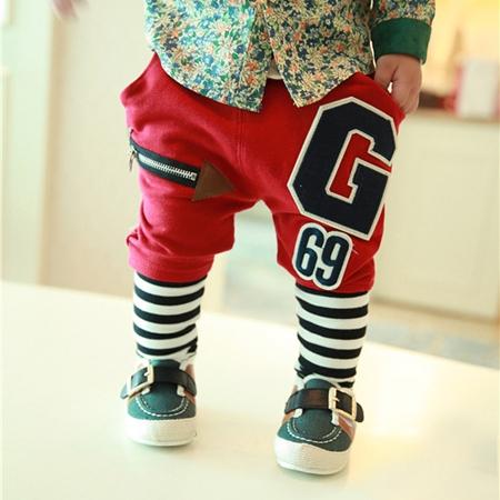 กางเกงขายาว G 69 สีแดง (4 ตัว/pack)