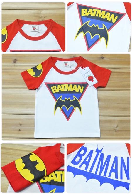เสื้อแขนสั้น BATMAN แขนเหลือง (5ตัว/pack)