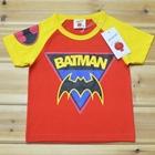 เสื้อแขนสั้น-BATMAN-แขนเหลือง-(5ตัว/pack)