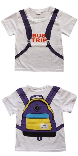 เสื้อแขนสั้น Bus Trip สีขาว (5ตัว/pack)
