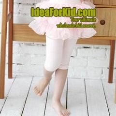 กางเกงเลกกิ้ง สีชมพูอ่อน (5size/pack)
