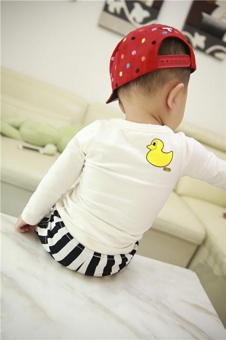 เสื้อแขนยาวเป็ดเหลือง สีขาว (4ตัว/pack)