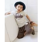 เซ็ทเสื้อกางเกงรถ-Hanabi-สีน้ำตาล-(5-ตัว/pack)