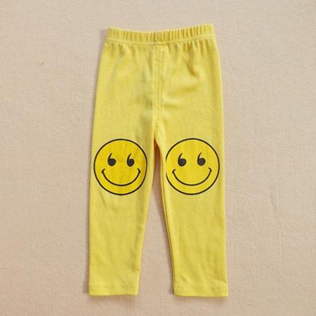 กางเกงขายาวลาย SMILE สีเหลืองสด (5ตัว/pack)