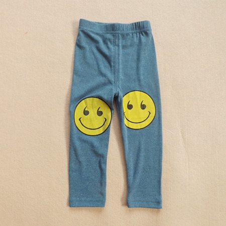 กางเกงขายาวลาย SMILE สีฟ้าคราม (5ตัว/pack)