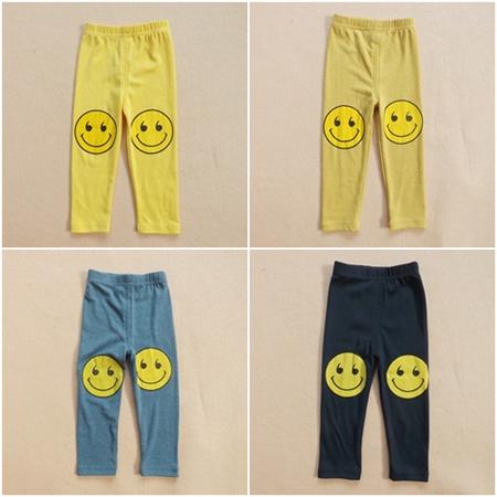 กางเกงขายาวลาย SMILE สีกรมท่า (5ตัว/pack)