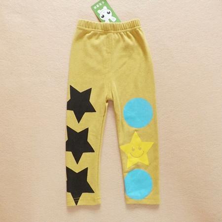 กางเกงขายาวลาย STAR สีเหลือง (5ตัว/pack)