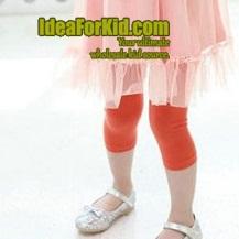 กางเกงเลกกิ้ง สีส้ม (5size/pack)
