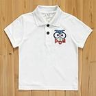 เสื้อยืดโปโลตั๊กแตน-สีขาว-(5size/pack)